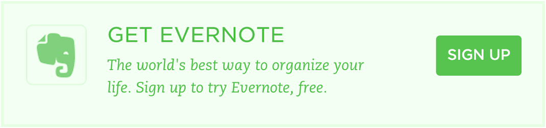 Evernote call to action